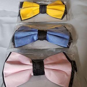 Bow Tie Lot Yellow Blue Pink Tuxedo Adjustable